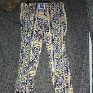 Blue Wave Colorful Pants Size L
